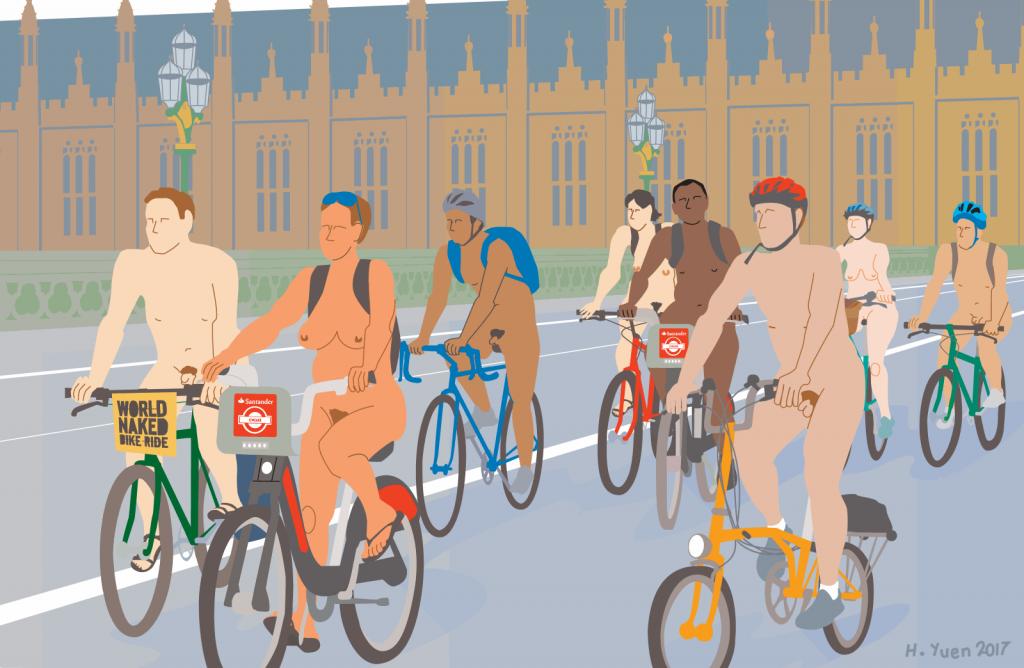 "一年一度的""裸骑""(World Naked Bike Ride)又来了!"
