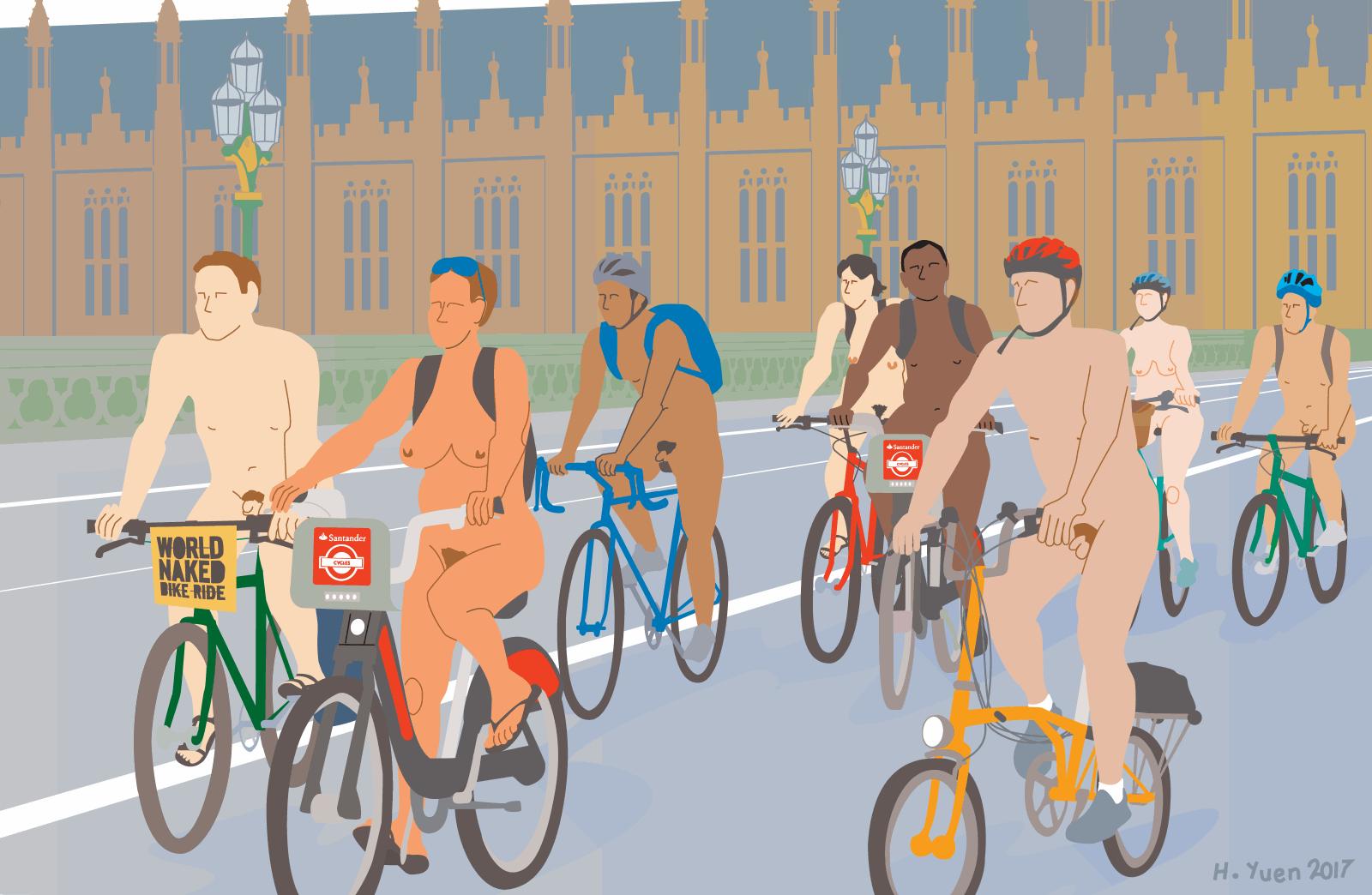 WNBR London crossing Westminster Bridge © Henry Yuen